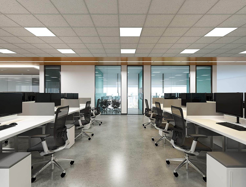6000K Panel Led Rectangular Superficie//Colgante para Techo de Despacho Oficina Comedor Cocina Anten 60W Panel LED Techo 120x30cm Blanco Fr/ío