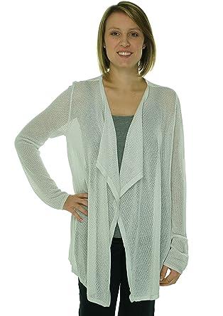 18a0bd7177faf Calvin Klein Silver Knit Metallic Women s Cardigan Sweater at Amazon ...