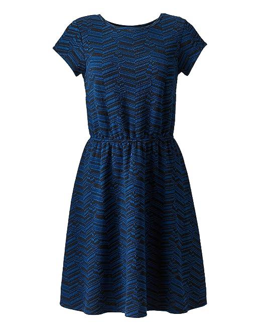 JD Williams Womens Jersey Skater Dress Blue Black a438267f4
