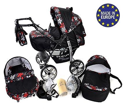Sportive X2 - Sistema de viaje 3 en 1, silla de paseo, carrito con capazo y silla de coche, RUEDAS GIRATORIAS y accesorios (Sistema de viaje 3 en 1, ...