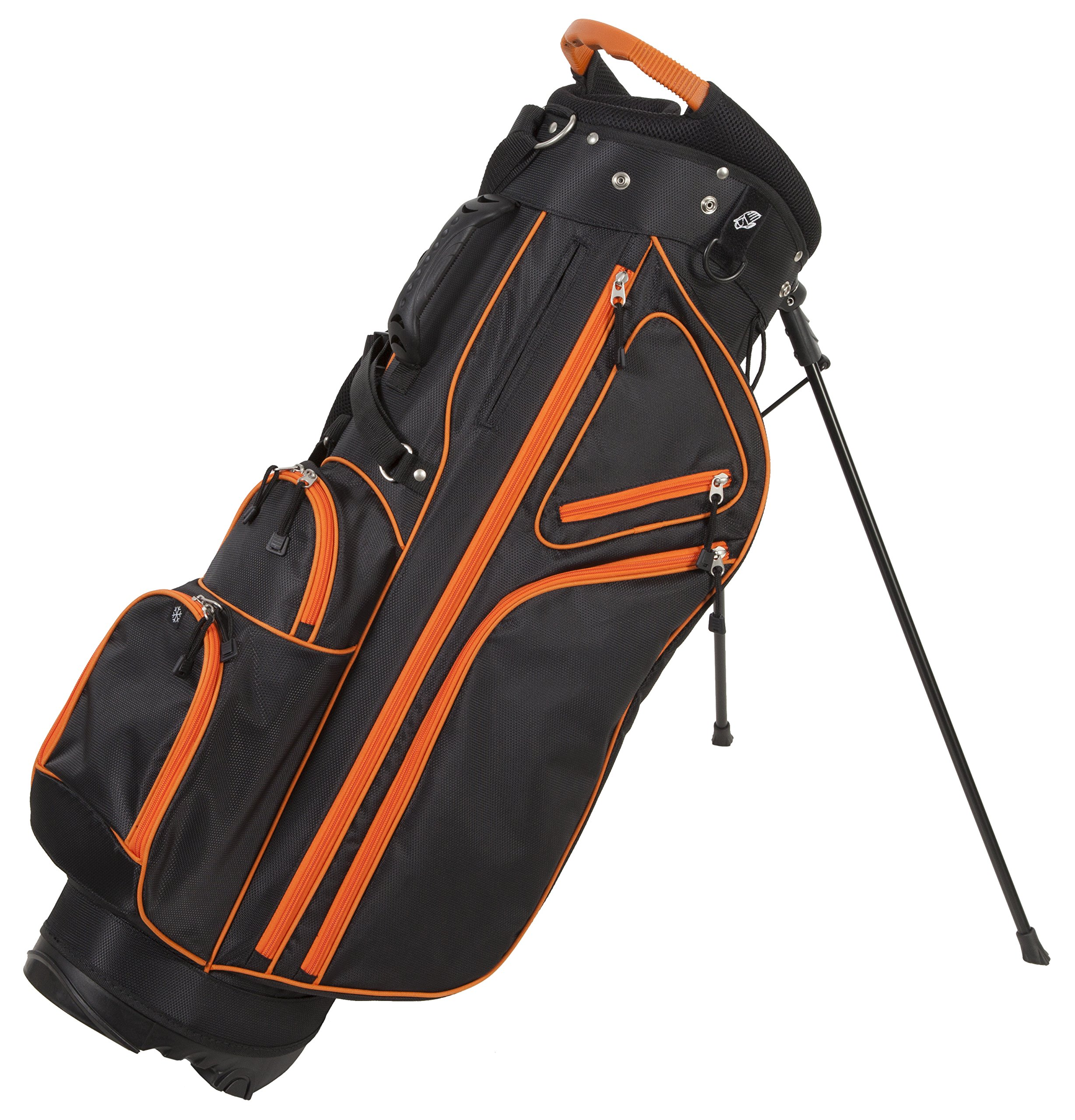 Pinemeadow Golf Courier 3.0 Stand Bag, Black/Orange