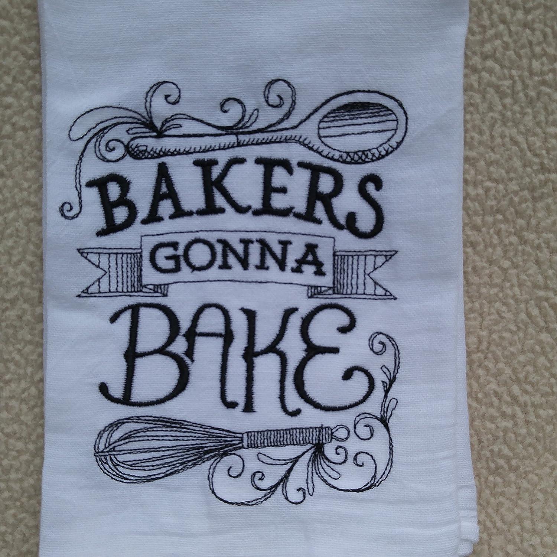 Amazon.com: Bakers Gonna Bake flour sack towel, tea towel ...