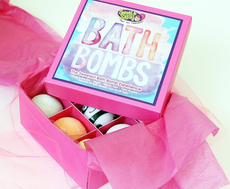 Amazon.com : Sweet & Sassy Bath Bomb Gift Set for Girls & Teens. 8 ...