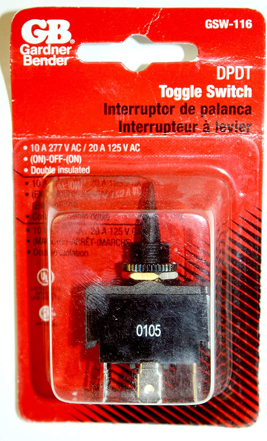 GB Gardner Bender GSW-41 Appliance Rocker Switch