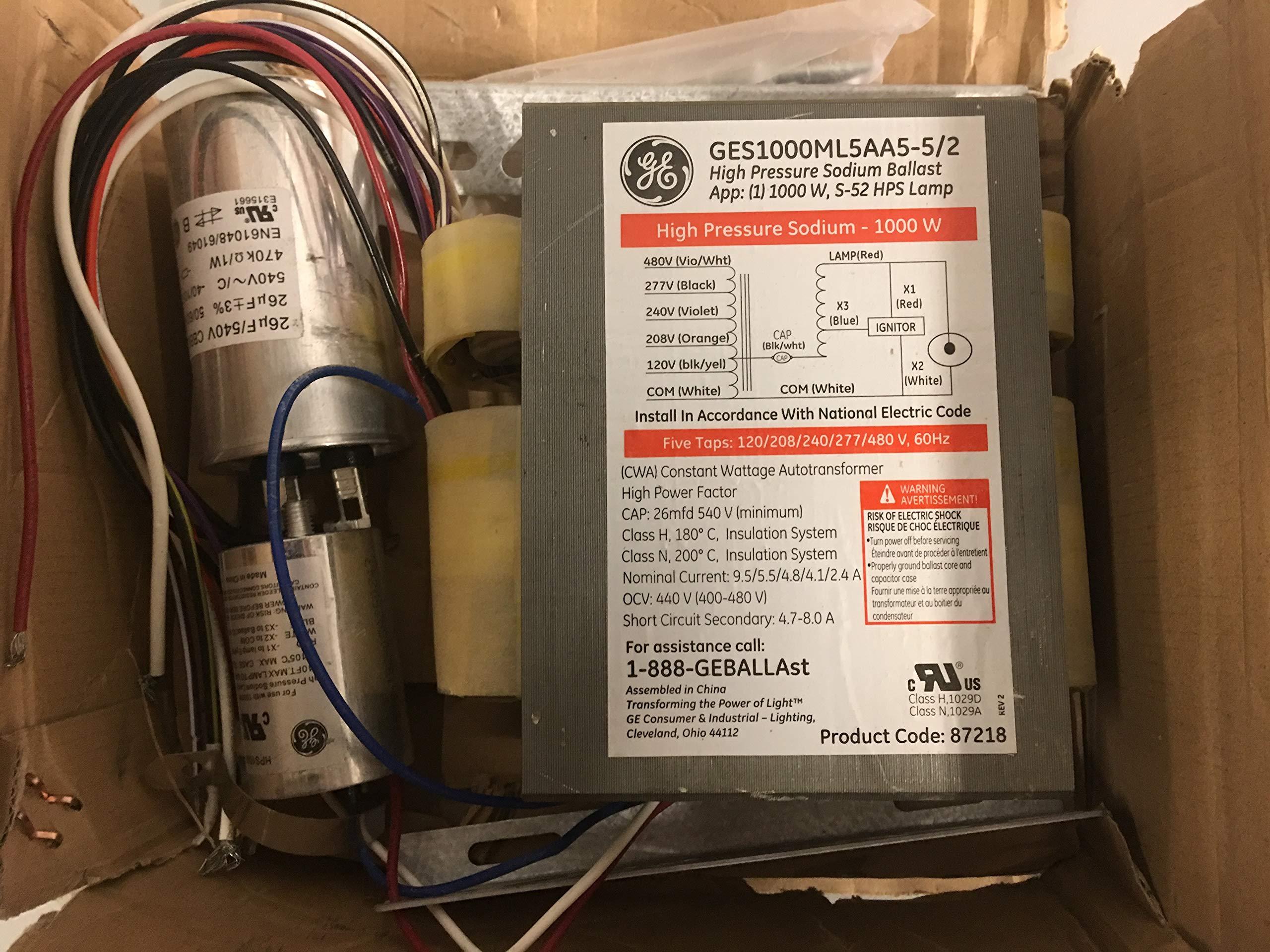 GE 87218 Ballast Kit GES1000ML5AA5-5/2