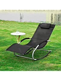 haotian rocking black lounge patio chairs outdoor garden chair outdoor lounge chair