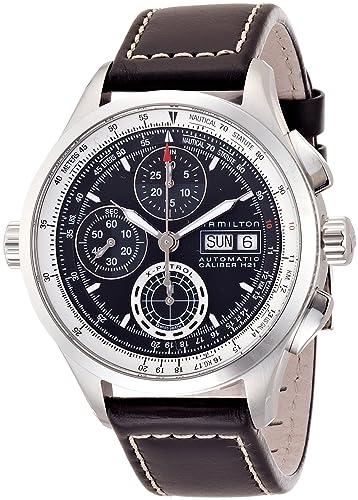 611112bb4 Mens Hamilton Khaki X-Patrol Automatic Chronograph Watch H76556731: Amazon. co.uk: Watches