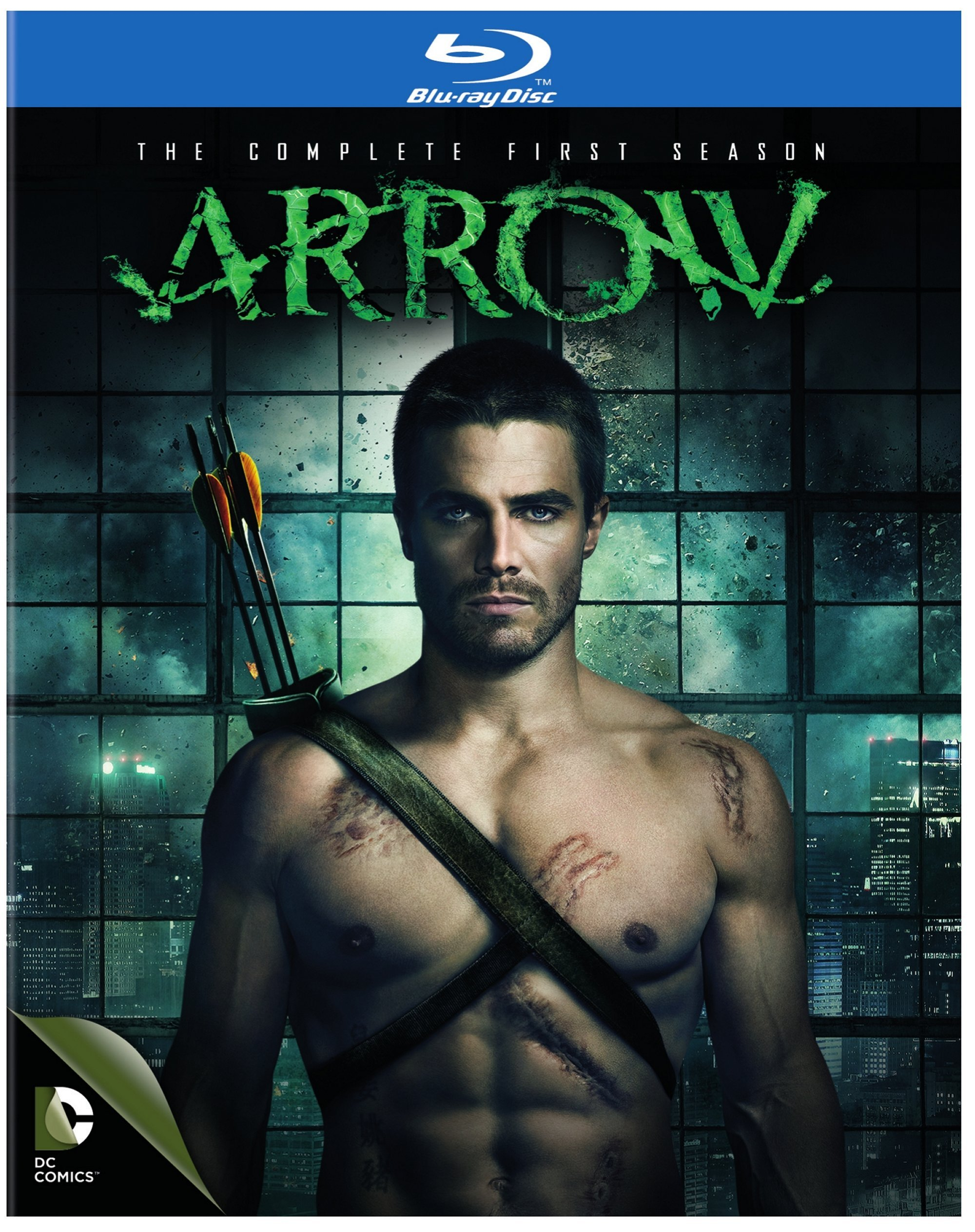 Blu-ray : Arrow: The Complete First Season (DC) (Boxed Set, Slipsleeve Packaging, 4 Disc)