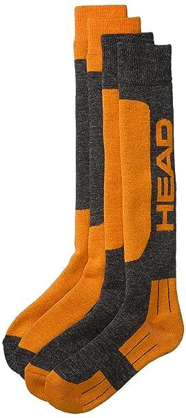 Head Skisocken Ski Kneehigh 2P - Calcetines para hombre, color naranja, talla 43-46: Amazon.es: Deportes y aire libre