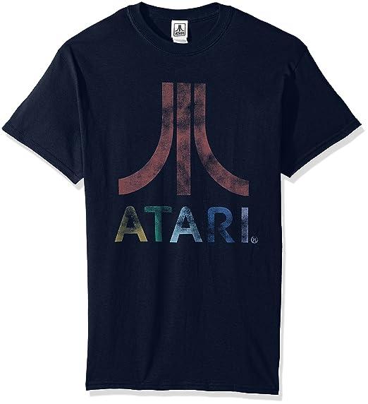 atari tshirt  : Atari Men's Classic Colorful Logo Men's T-Shirt: Clothing