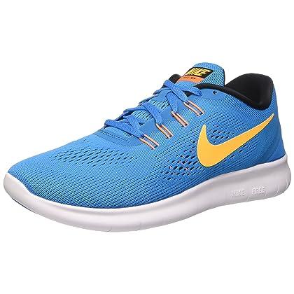 938d2ac1d72f3 NIKE Free RN Heritage Cyan Black Blue Spark Laser Orange Mens Running Shoes