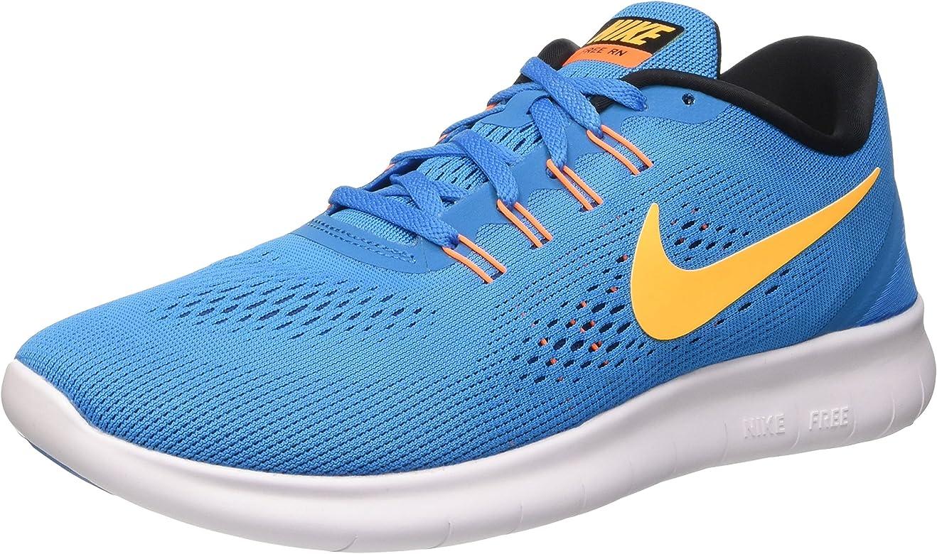 Nike Free RN, Zapatillas de Running para Hombre, Azul (Hrtg Cyan/LSR Orng-Blk-Bl Sprk), 38.5 EU: Amazon.es: Zapatos y complementos