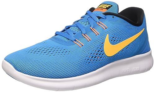 Nike Free, Scarpe Running Uomo, Blu (Bleu Clair/Orange/Blanc)