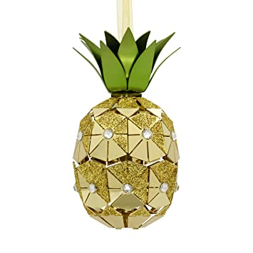 Image Unavailable. Image not available for. Color: Hallmark Pineapple Metal  Signature Premium Christmas Ornaments - Amazon.com: Hallmark Pineapple Metal Signature Premium Christmas