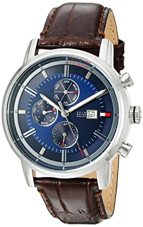 1f2133f91410b Amazon.com  Tommy Hilfiger Men s Quartz Stainless Steel and Leather ...