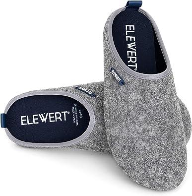ELEWERT® - Natural - Zapatillas de Estar por casa, Hechas en España, Confort, Unisex, Interior, Exterior, Suela de Caucho, Plantilla extraíble reciclada -Designed IN Europe. Tallas de la 37 a la 47:
