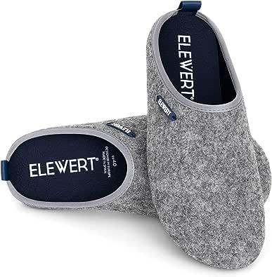 ELEWERT® - Natural - Zapatillas de Estar por casa, Hechas en España, Confort, Unisex, Interior, Exterior, Suela de Caucho, Plantilla extraíble reciclada -Designed IN Europe. Tallas de la 37 a la 47
