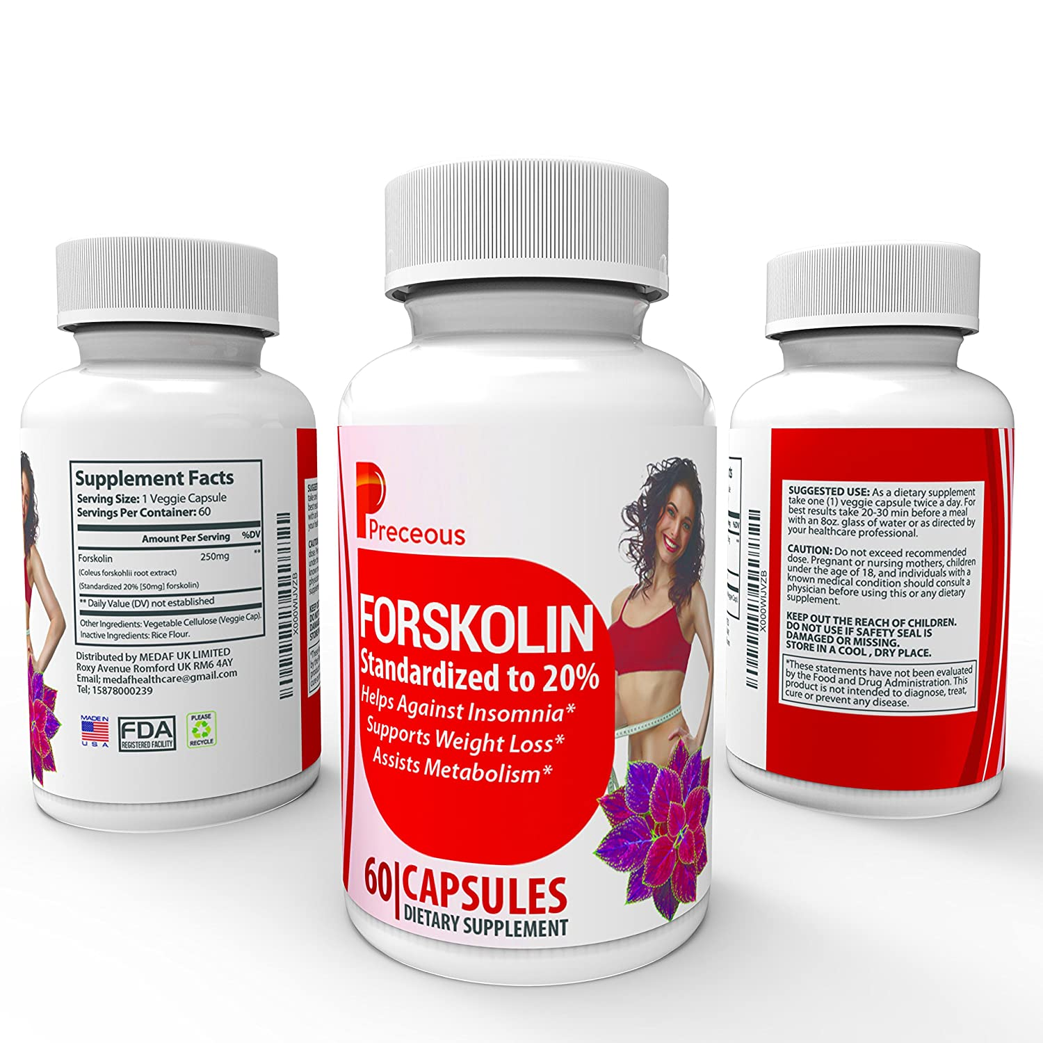 Recommended daily dose of forskolin