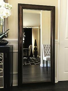 west frames tuscany full floor dark brown gold mirror