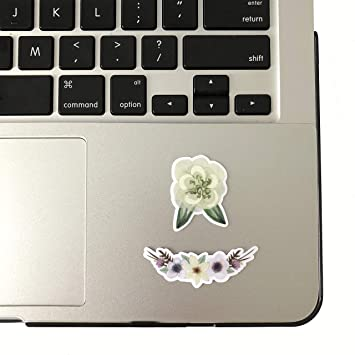 cups laptops or walls weatherproofvinyl sticker Floral heart vinyl decal StickersandMorebyLB Layla Blossomsdecals for cars tumblers