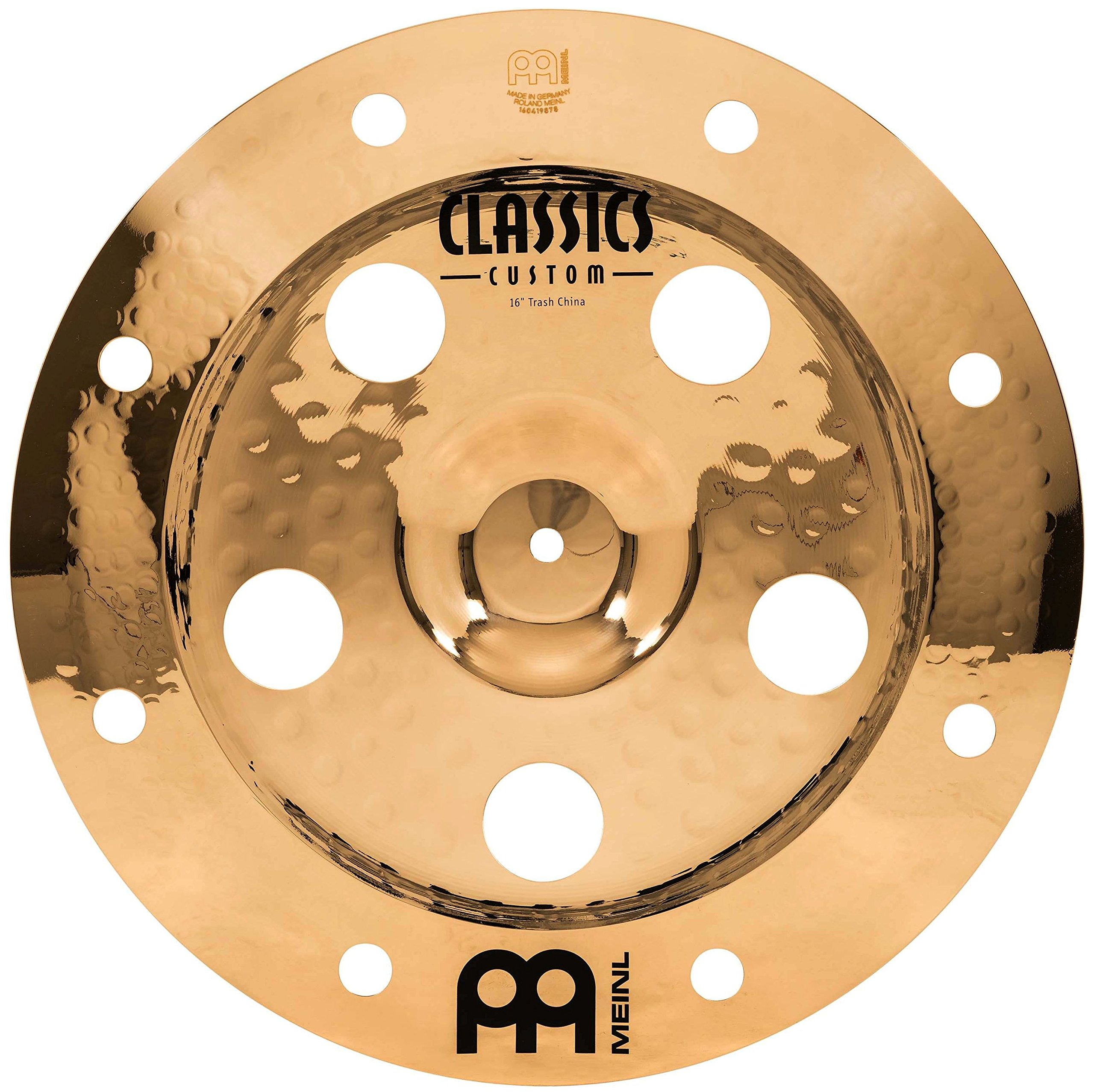 Meinl 16'' Trash China Cymbal with Holes - Classics Custom Brilliant - Made In Germany, 2-YEAR WARRANTY (CC16TRCH-B) by Meinl Cymbals