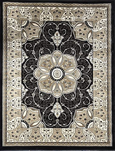 Traditional Oriental Dark Brown Persian 500,000 Point Design 404 8 Feet X 10 Feet 6 Inch