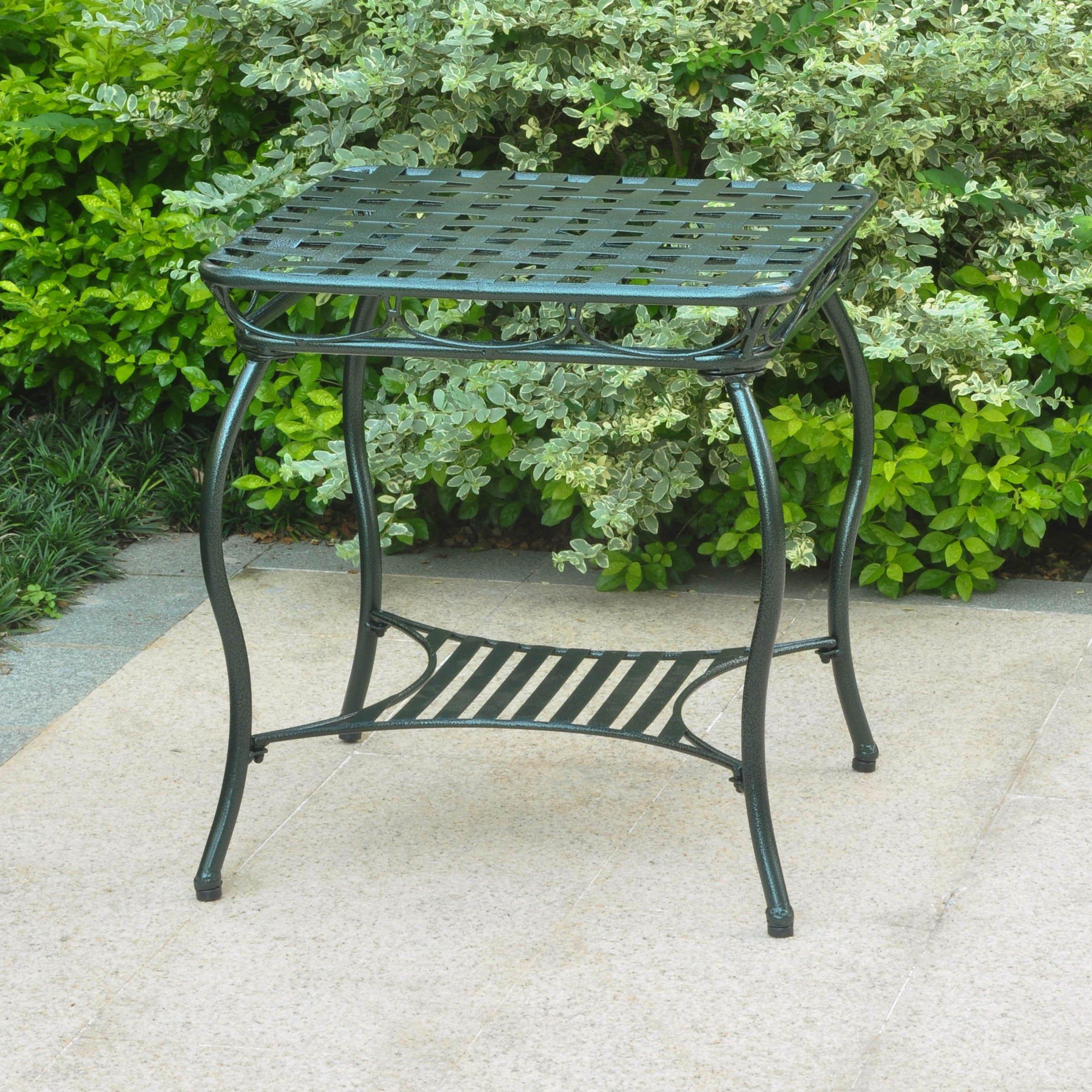 2-Tier Patio Side Table in Verdigris