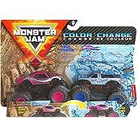 Monster Jam, Official Blue Thunder vs. Full Charge Color-Changing Die-Cast Monster Trucks, 1:64 Scale