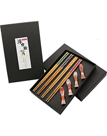 Exzact EX-SR08 Juego de 8 Piezas para Preparar Sushi de Bambú - 2 x