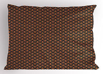 Amazoncom Ambesonne Fleur De Lis Pillow Sham Orange Ancient