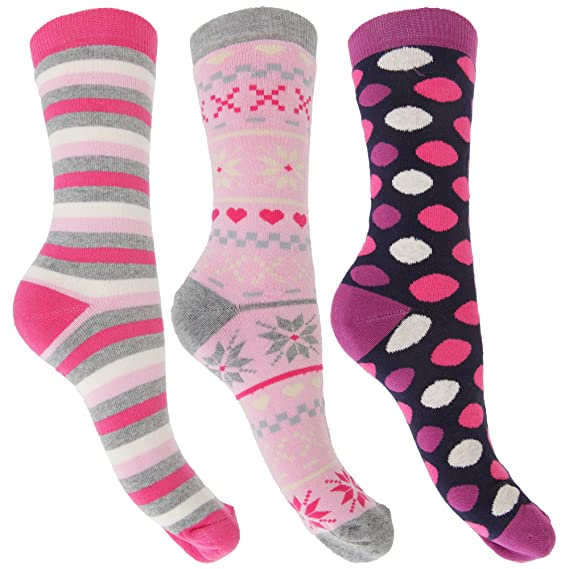Calcetines térmicos ricos en algodón para mujer (3 pares) (35-41/