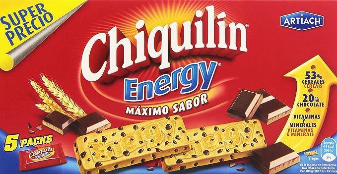 Chiquilin - Energy Maximo Sabor - Galleta con gotas de chocolate - 5 x 40 g: Amazon.es: Alimentación y bebidas
