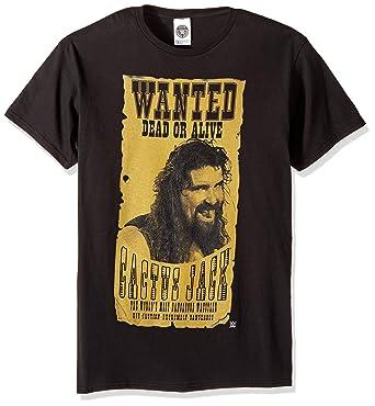 39ffdb3e6 Amazon.com: WWE Men's Cactus Jack Wanted Dead Alive T-Shirt: Clothing