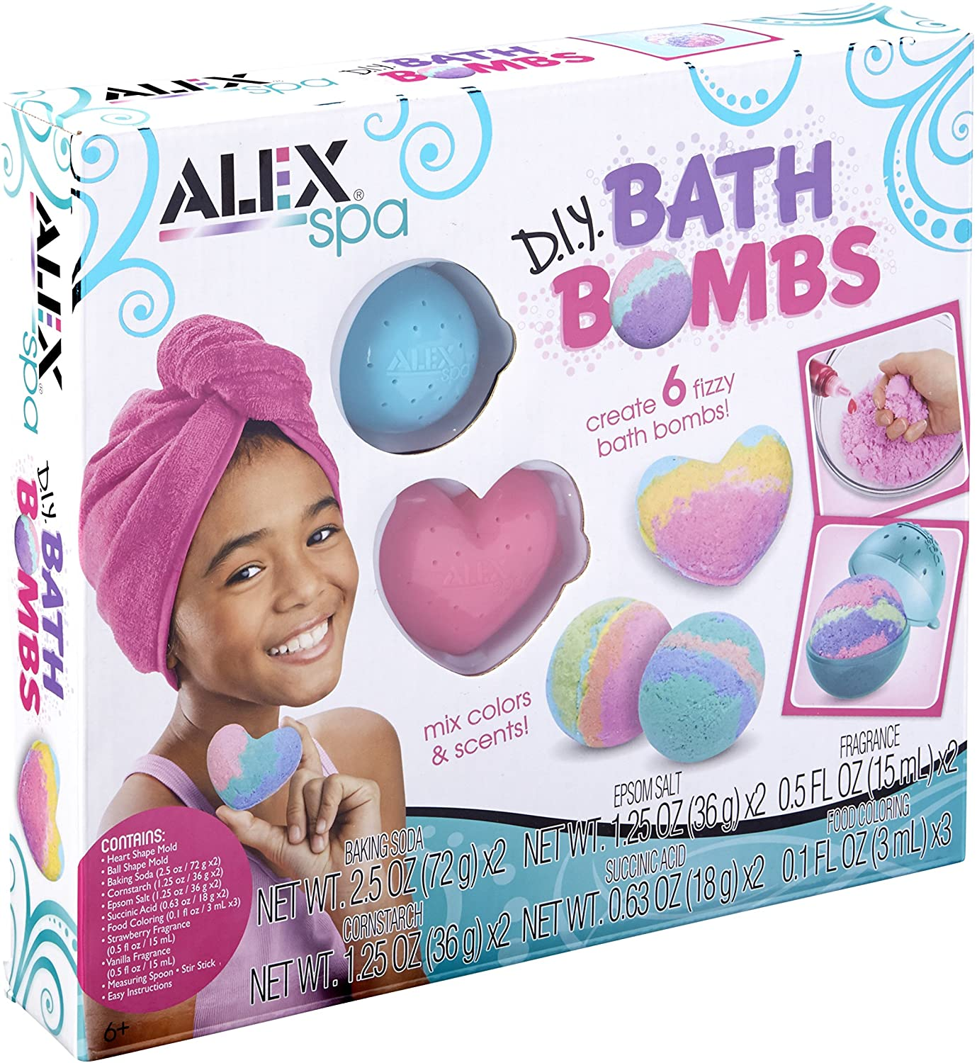 Alex Spa DIY Bath Bombs Kit Kids Bath Bomb Soap Kit