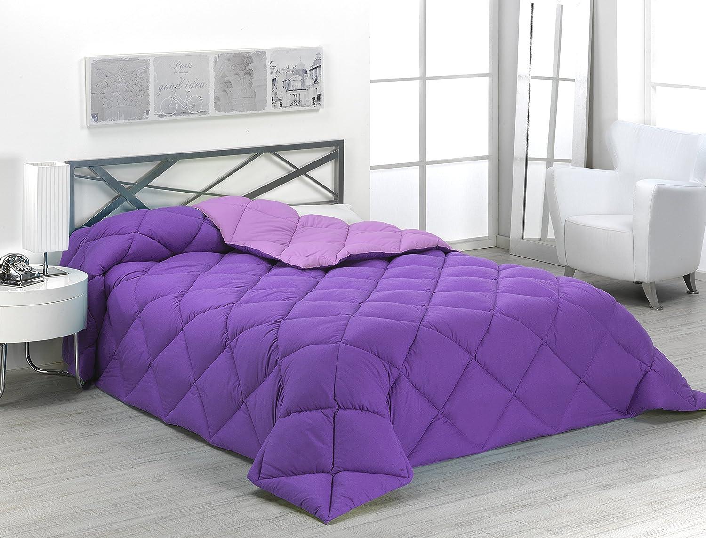 Sabanalia - Edredón nórdico de 400 g reversible (bicolor), para cama de 135/150 cm, color lila y morado