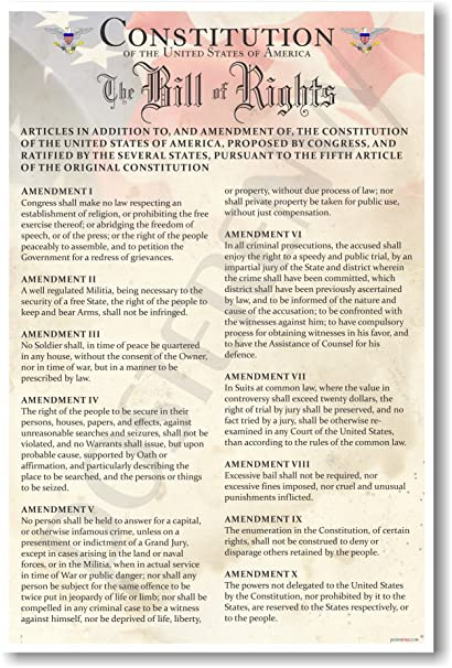 amazon com the u s constitution the bill of rights us history