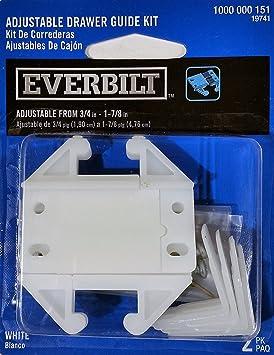 Amazon com: Everbilt Adjustable Drawer Guide Kit: Home & Kitchen