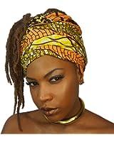 The Urban Turbanista Head Wrap -Extra Long African Wax Print Headwrap Scarf Tie