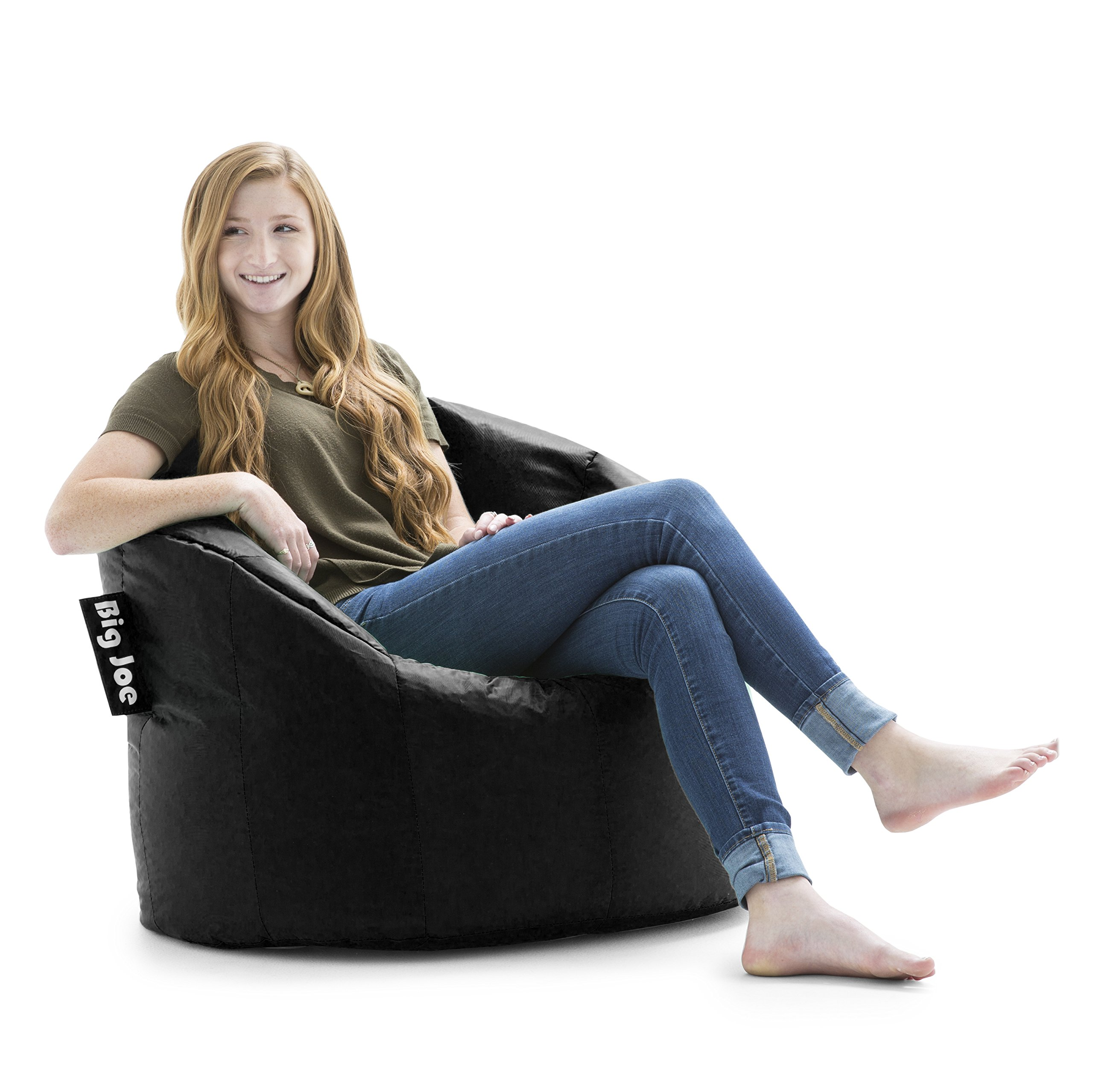 Big Joe Milano Bean Bag Chair, Stretch Limo Black