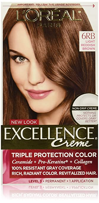 Amazon Com L Oreal Paris Excellence Creme Permanent Hair Color 6rb