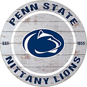 """KH Sports Fan 20""""x20"""" Classic Penn State Nittany Lions Weathered Circle Sign"""