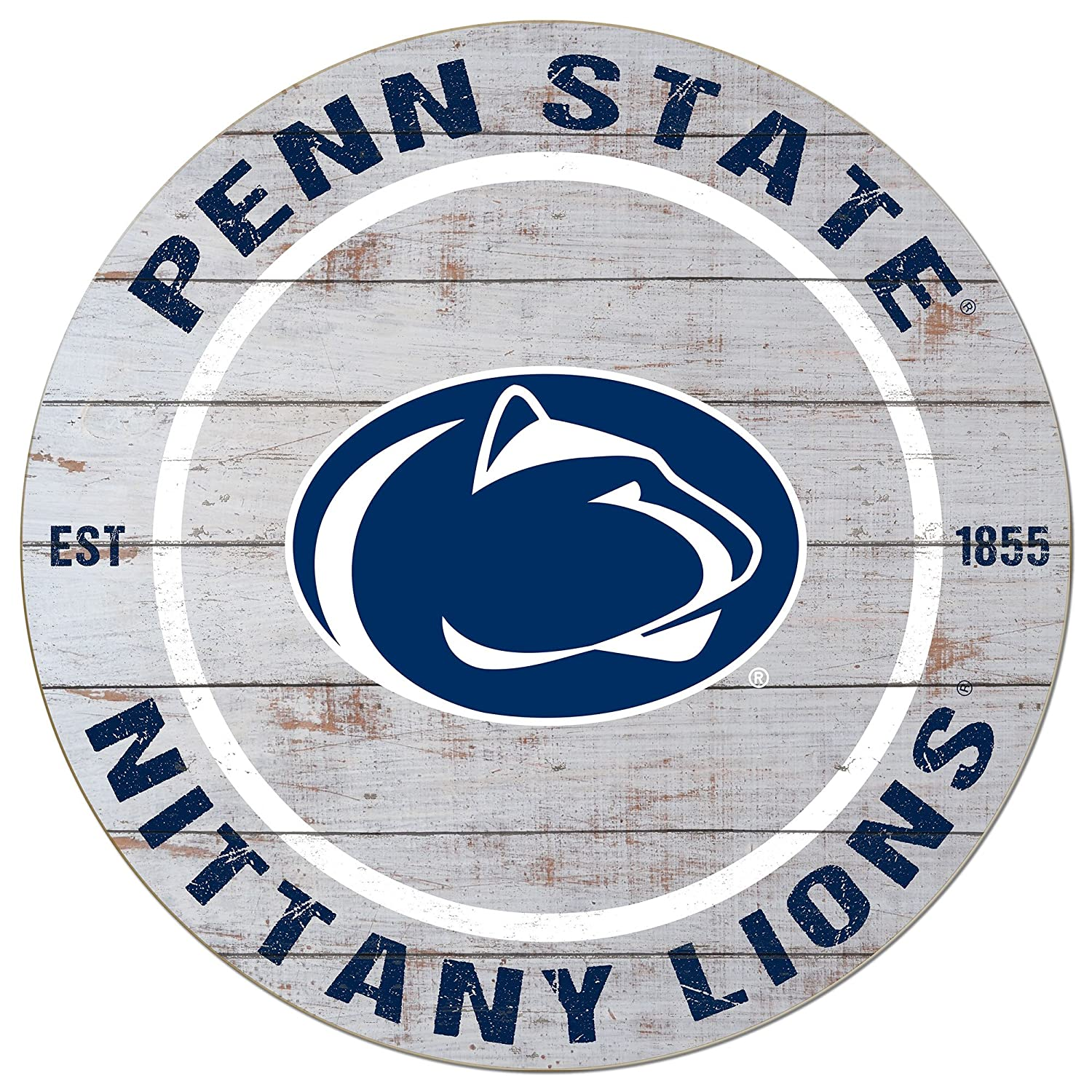 KH Sports Fan 20x20 Classic Penn State Nittany Lions Weathered Circle Sign