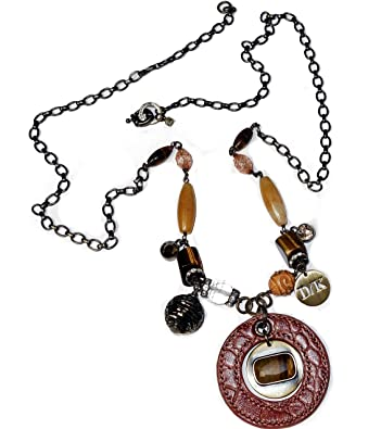 5dd60f685a2b Dyrberg Kern Necklace Multi Stone Statement Necklace With Swarovski  Elements Crystals – Women s Pendant Necklace Charm