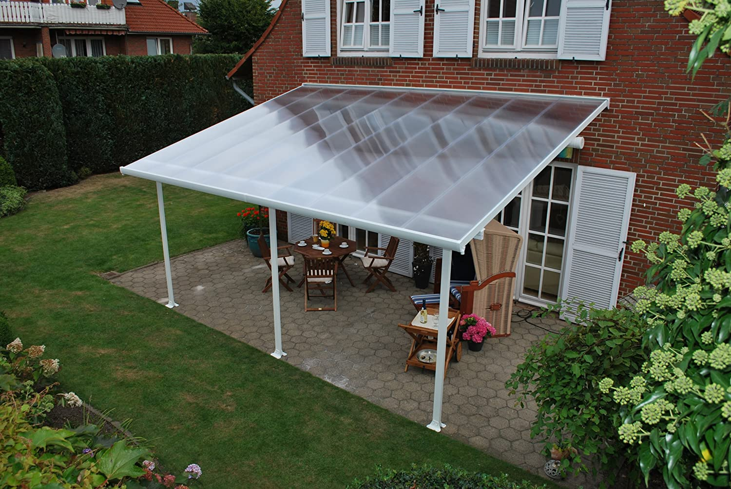 Amazon.com : Palram Feria Patio Cover   13u0027 X 20u0027   White : Greenhouse  Parts And Accessories : Garden U0026 Outdoor