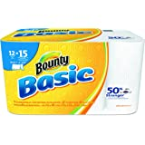 """Bounty 92972 Basic Select-A-Size Paper Towels, 5 9/10"""" x 11"""", 1-Ply, White"""