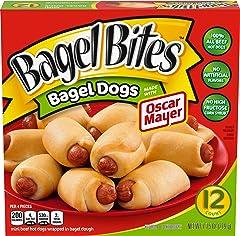 Bagel Bites Bagel Dogs with Oscar Mayer Frozen Snacks (12 ct Box)