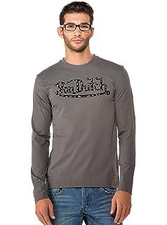2ccf61dba129a Von Dutch T-Shirt à Manches Longues - À Logo - Col Chemise Classique -