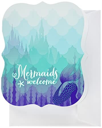 Amazon.com: Mermaids Under the Sea Party Supplies - Invitations (8 ...