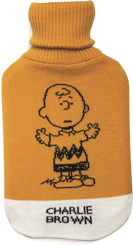 Excelsa Peanuts Charlie Brown Bouillotte en mat/ériau synth/étique 35 x 19 x 3,5 cm Orange
