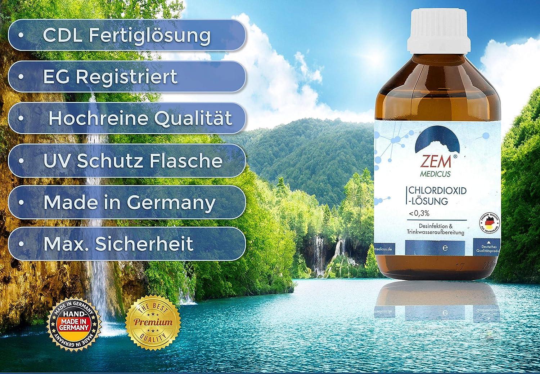 CDS Chlordioxid-Lösung Tropfen 0,3/% Wasser-Desinfektion Fertiglösung 3 X CDL